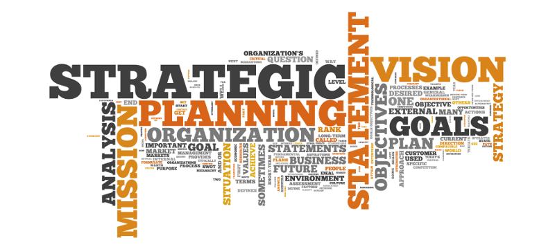 Nuvem de palavas - Planejamento Estratégico